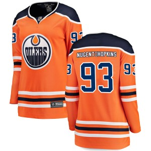 Ryan Nugent-Hopkins Edmonton Oilers Women's Fanatics Branded Authentic Orange r Home Breakaway Jersey