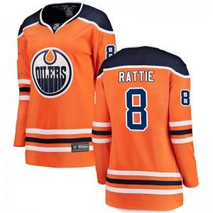 Ty Rattie Edmonton Oilers Women's Fanatics Branded Orange Breakaway Home Jersey