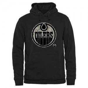 Edmonton Oilers Men's Black Rink Warrior Pullover Hoodie