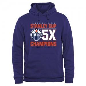 Edmonton Oilers Men's Royal Rinkside Victor Pullover Hoodie