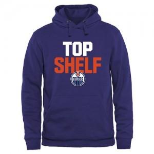Edmonton Oilers Men's Royal Top Shelf Pullover Hoodie