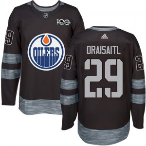 Leon Draisaitl Edmonton Oilers Men's Adidas Authentic Black 1917-2017 100th Anniversary Jersey