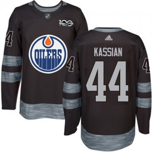 Zack Kassian Edmonton Oilers Men's Adidas Authentic Black 1917-2017 100th Anniversary Jersey