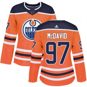Connor McDavid Edmonton Oilers Women's Adidas Authentic Orange Home Jersey