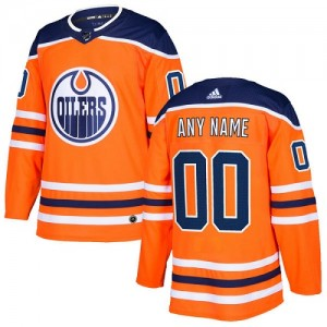 Youth Adidas Edmonton Oilers Customized Authentic Orange Home Jersey