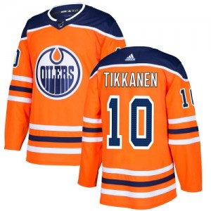Esa Tikkanen Edmonton Oilers Youth Adidas Authentic Orange Home Jersey