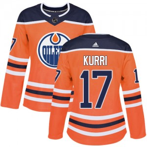 Jari Kurri Edmonton Oilers Women's Adidas Authentic Orange Home Jersey