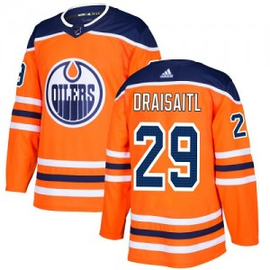 Leon Draisaitl Edmonton Oilers Youth Adidas Authentic Orange Home Jersey