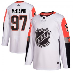 Connor McDavid Edmonton Oilers Youth Adidas Authentic White 2018 All-Star Pacific Division Jersey