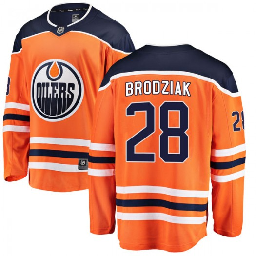 Kyle Brodziak Edmonton Oilers Youth Fanatics Branded Orange Breakaway Home Jersey