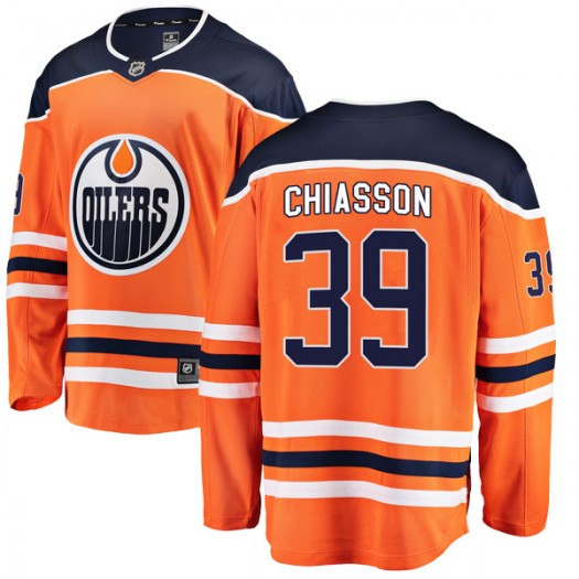Alex Chiasson Edmonton Oilers Youth Fanatics Branded Orange Breakaway Home Jersey