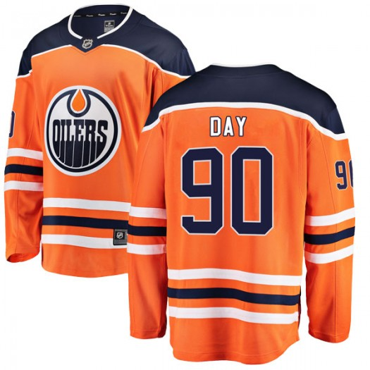 Logan Day Edmonton Oilers Youth Fanatics Branded Orange Breakaway Home Jersey