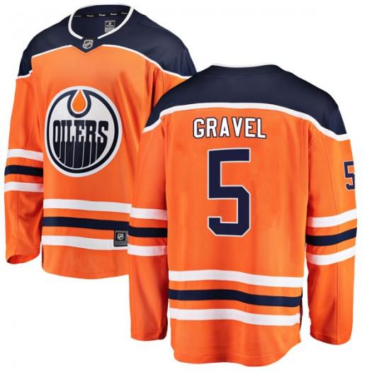 Kevin Gravel Edmonton Oilers Youth Fanatics Branded Orange Breakaway Home Jersey