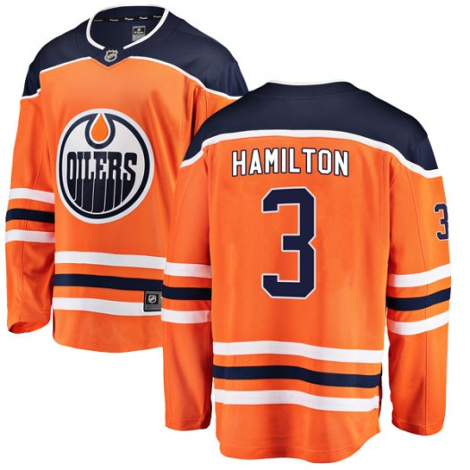 Al Hamilton Edmonton Oilers Youth Fanatics Branded Authentic Orange r Home Breakaway Jersey