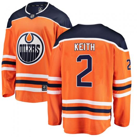 Duncan Keith Edmonton Oilers Youth Fanatics Branded Orange Breakaway Home Jersey