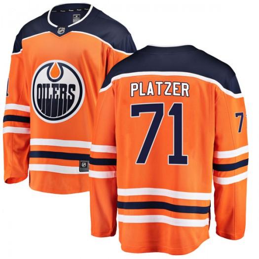 Kyle Platzer Edmonton Oilers Youth Fanatics Branded Authentic Orange r Home Breakaway Jersey
