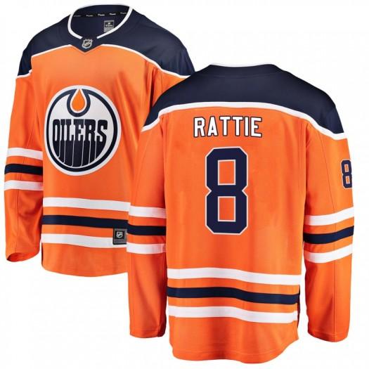 Ty Rattie Edmonton Oilers Youth Fanatics Branded Orange Breakaway Home Jersey