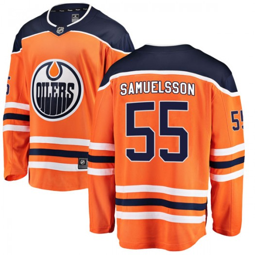 Henrik Samuelsson Edmonton Oilers Youth Fanatics Branded Authentic Orange r Home Breakaway Jersey
