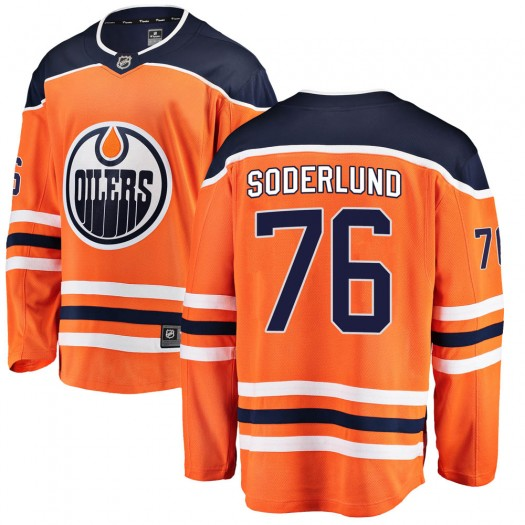 Tim Soderlund Edmonton Oilers Youth Fanatics Branded Orange Breakaway Home Jersey