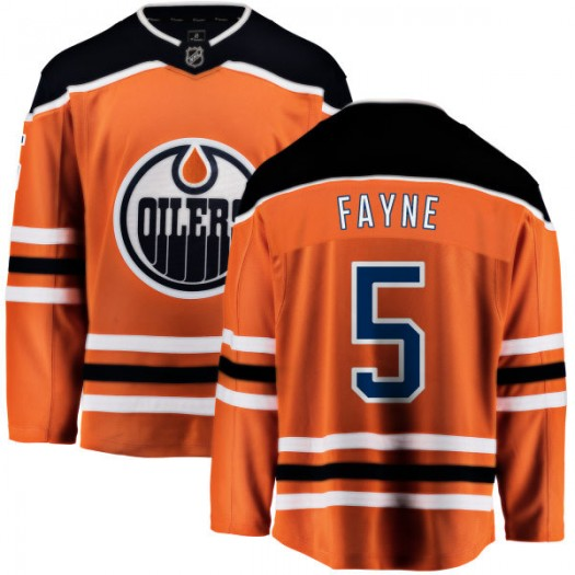 Mark Fayne Edmonton Oilers Youth Fanatics Branded Orange Home Breakaway Jersey