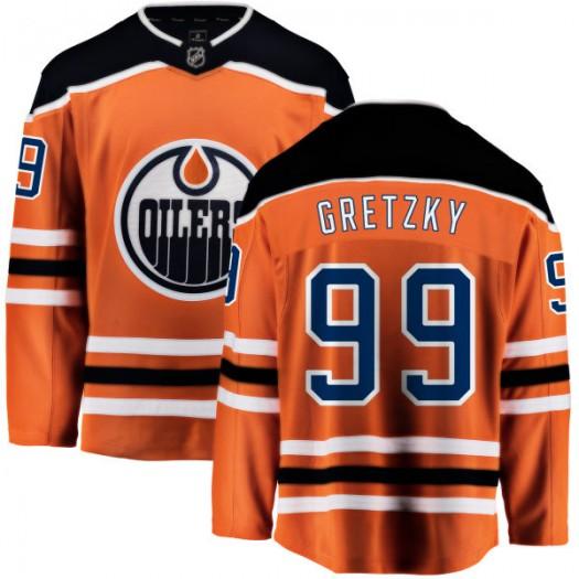 Wayne Gretzky Edmonton Oilers Men's Fanatics Branded Orange Home Breakaway Jersey