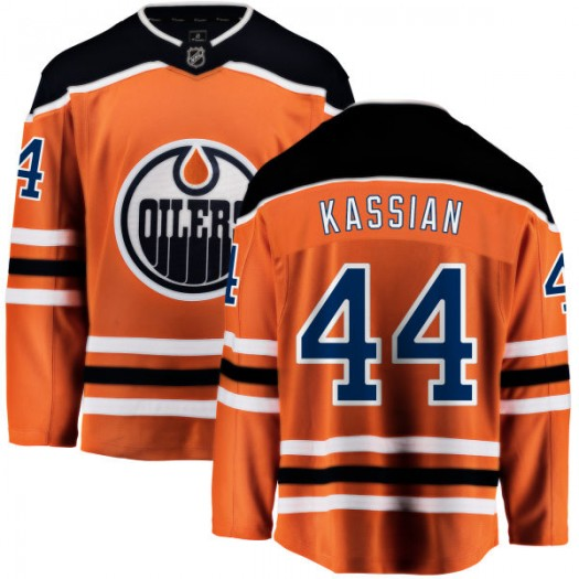 Zack Kassian Edmonton Oilers Men's Fanatics Branded Orange Home Breakaway Jersey