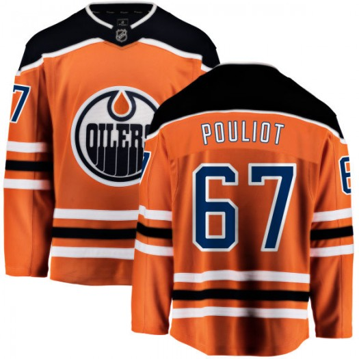 Benoit Pouliot Edmonton Oilers Men's Fanatics Branded Orange Home Breakaway Jersey