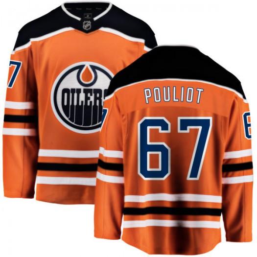 Benoit Pouliot Edmonton Oilers Youth Fanatics Branded Orange Home Breakaway Jersey