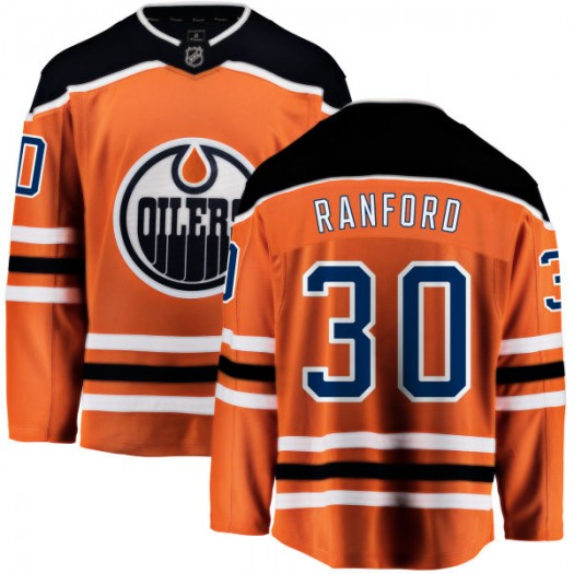 Bill Ranford Edmonton Oilers Youth Fanatics Branded Orange Home Breakaway Jersey