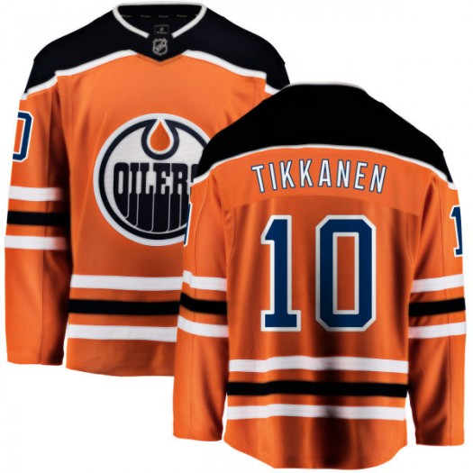 Esa Tikkanen Edmonton Oilers Men's Fanatics Branded Orange Home Breakaway Jersey