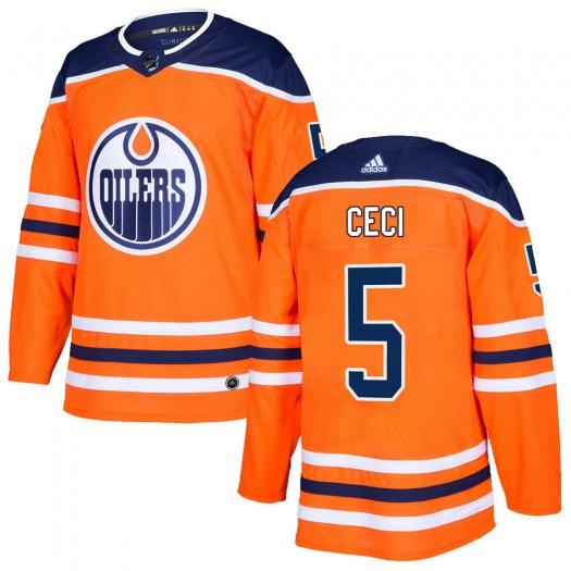 Cody Ceci Edmonton Oilers Men's Adidas Authentic Orange r Home Jersey