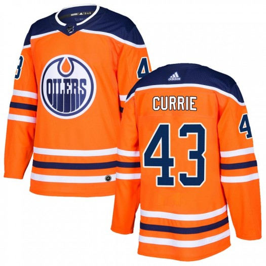 Josh Currie Edmonton Oilers Men's Adidas Authentic Orange r Home Jersey