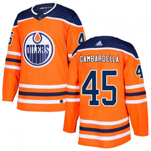 Joe Gambardella Edmonton Oilers Men's Adidas Authentic Orange r Home Jersey