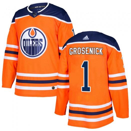 Troy Grosenick Edmonton Oilers Men's Adidas Authentic Orange r Home Jersey