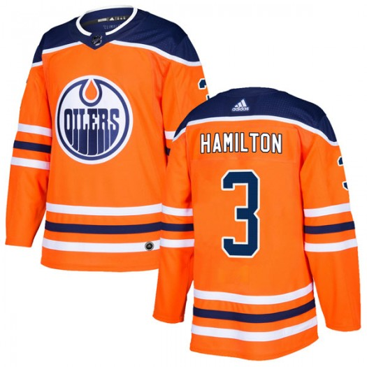 Al Hamilton Edmonton Oilers Men's Adidas Authentic Orange r Home Jersey