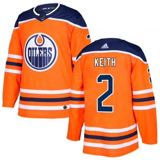 Duncan Keith Edmonton Oilers Men's Adidas Authentic Orange r Home Jersey