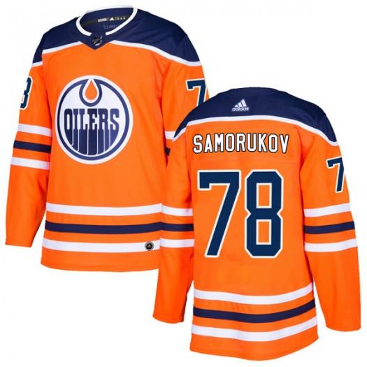 Dmitri Samorukov Edmonton Oilers Men's Adidas Authentic Orange r Home Jersey