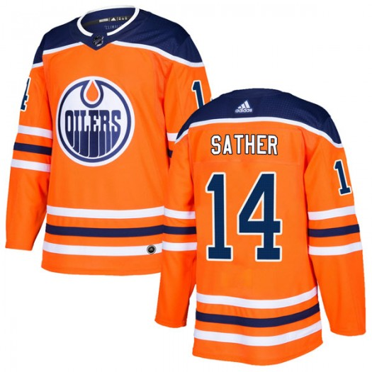 Glen Sather Edmonton Oilers Men's Adidas Authentic Orange r Home Jersey