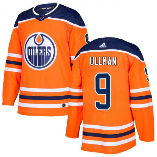 Norm Ullman Edmonton Oilers Men's Adidas Authentic Orange r Home Jersey