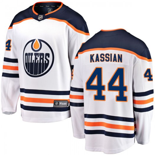 Zack Kassian Edmonton Oilers Youth Fanatics Branded Authentic White Away Breakaway Jersey
