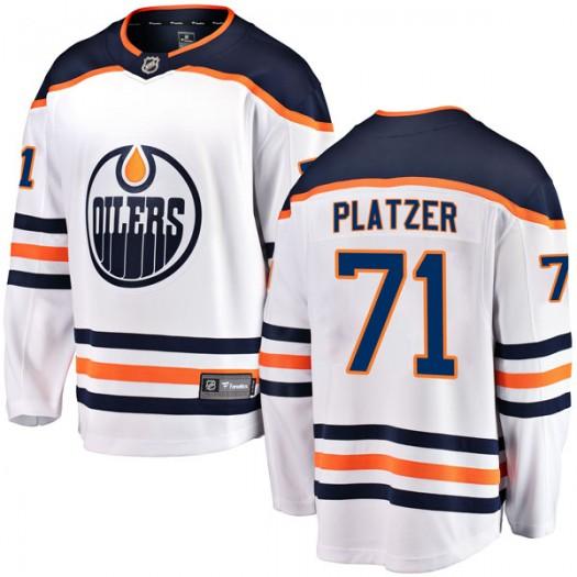 Kyle Platzer Edmonton Oilers Youth Fanatics Branded Authentic White Away Breakaway Jersey
