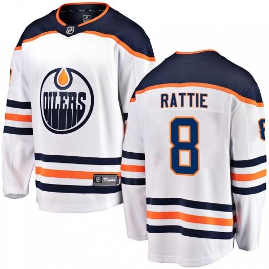 Ty Rattie Edmonton Oilers Youth Fanatics Branded White Breakaway Away Jersey