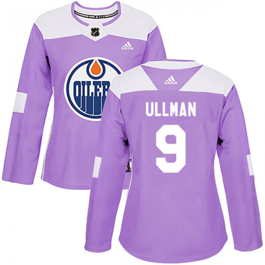 Norm Ullman Edmonton Oilers Women's Adidas Authentic Purple Fights Cancer Practice Jersey