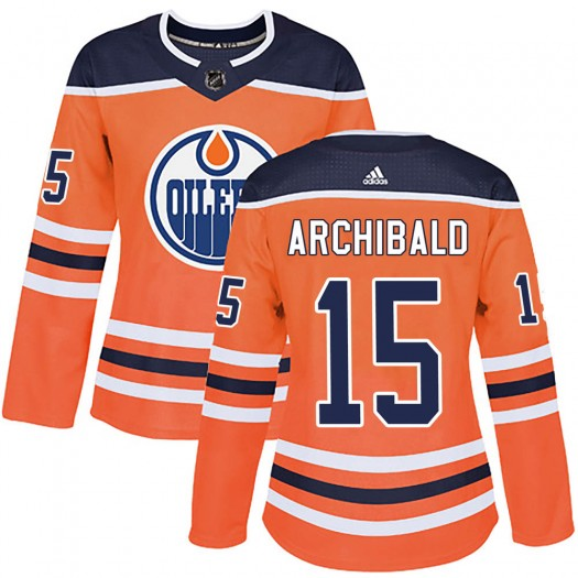 Josh Archibald Edmonton Oilers Women's Adidas Authentic Orange r Home Jersey