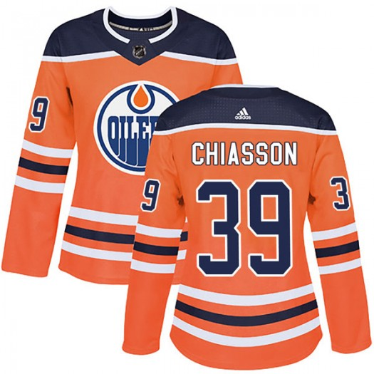 Alex Chiasson Edmonton Oilers Women's Adidas Authentic Orange r Home Jersey