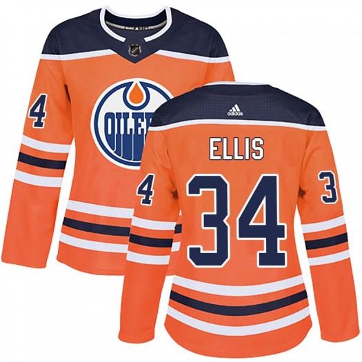Nick Ellis Edmonton Oilers Women's Adidas Authentic Orange r Home Jersey