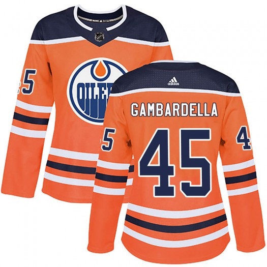 Joe Gambardella Edmonton Oilers Women's Adidas Authentic Orange r Home Jersey