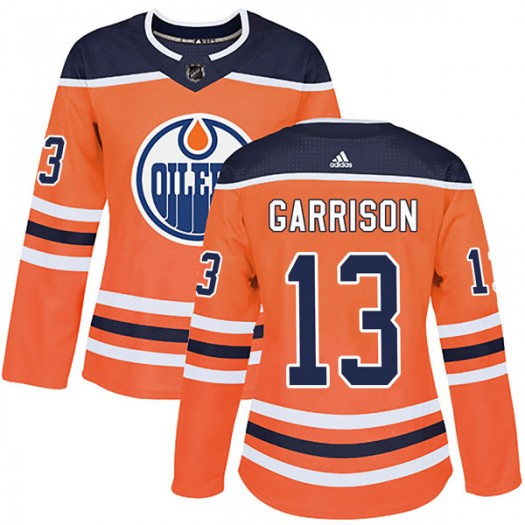Jason Garrison Edmonton Oilers Women's Adidas Authentic Orange r Home Jersey