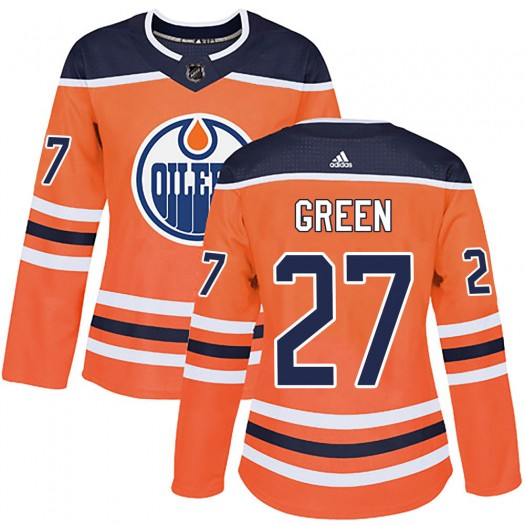 Mike Green Edmonton Oilers Women's Adidas Authentic Orange ized r Home Jersey