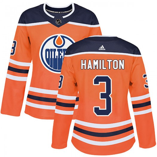 Al Hamilton Edmonton Oilers Women's Adidas Authentic Orange r Home Jersey